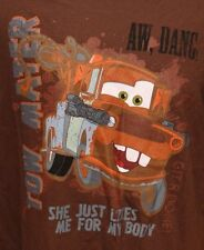 RETRO DISNEY CARS MATER DISTRESSED LOGO ADULT SMALL GRAPHIC TEE T SHIRT T SHIRT