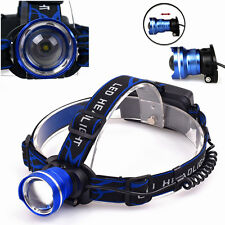 CREE XM-L 3 modes Rechargeable Headlamp 2000LM T6 LED Headlight Zoomable Lamp