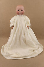"20"" antique bisque head German Heubach new born Baby Doll mold 349"