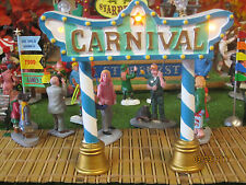 "TRAIN GARDEN VILLAGE HOUSE "" LED LIGHTED CARNIVAL GATEWAY  "" +DEPT 56/LEMAX info"
