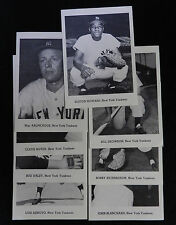 (8)  1960s NEW YORK YANKEES PICTURE PACK TEAM LOT