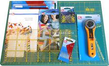 STARTER KIT PRYM per PATCHWORK taglierino 45mm OLFA base taglio quilt 651447