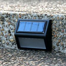 Solar Powered Motion Wall Mount 6 LED Light Outdoor Garden Path Fence Yard Lamp