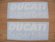 2x Ducati Sticker Decals Aufkleber SBK IDM, frei stehend Größe 14,8 x 2,7cm