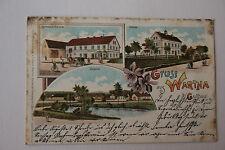 uralte Ansichtskarte Gruß aus Wartha bei Guttau 1901 (S0291)