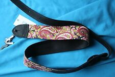 Fender Pink Paisley Fabric Guitar or Bass Strap, Leather Ends, MPN 0990609001