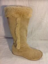 Wrangler Beige Mid Calf Suede Boots Size 4