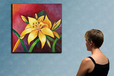 """23"""" YELLOW FLOWERS ------------------original oil on canvas painting by ANNA !!!"""
