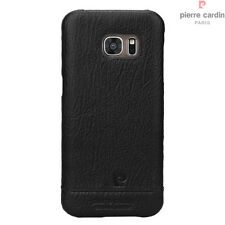 For Samsung Galaxy S7/S7 Edge Case Pierre Cardin Genuine Leather Hard Back Cover
