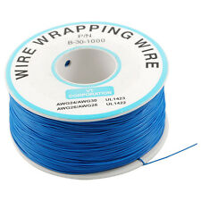 Breadboard B-30-1000 Tin Plated Copper Wire Wrapping 30AWG Cable 305M Blue CP