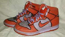 Men's Nike Dunk High 1 Piece Premium Lilac Ice/Orange Size 9 (PRE-OWNED)