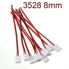 4Pcs PCB Cable Useful 2 Pin LED Strip 8mm Connector 3528 Single Color Adapter
