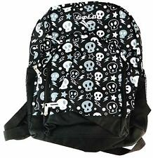 Gola Pardshaw Kid's Black & White Electric Skull Print School Backpack Bag New