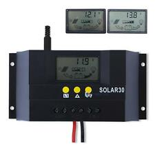 30A 12V/24V PWM Solar Controller Regulator Charge Battery Safe Protection CE
