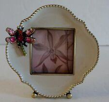 Jay Strongwater Mini Dragonfly Swarovski Crystals Picture Frame New In Box