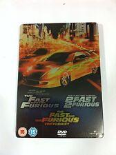 FAST AND FURIOUS - 2 FAST 2 FURIOUS - TOKYO DRIFT  -3 DVD INGLÉS - STEELBOOK