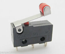 10pcs Mini Micro Switch Roller Lever Limit Switch Normal Open/Close 5A 20x10mm
