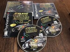 Star Wars: Rebel Assault II  The Hidden Empire Sony PlayStation Used Free US S/H