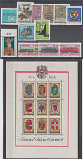 Austria famous people,sport,coat of arms,trains 59 stamps + mini sheet 1966/79