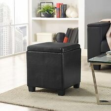 Essential Home Lidded Storage Ottoman Free Shipping New