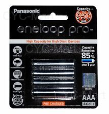 4pc Panasonic AAA NiMH 950mAh eneloop rechargeable battery Free post tracking