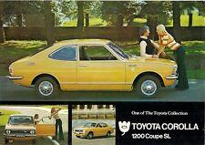 Toyota Corolla 1200 SL Coupe KE20 1971-72 UK Market Leaflet Sales Brochure
