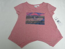 Roxy Girls Beach Daze T-Shirts Sz 10 Medium Tee New Red