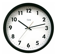 Equity by La Crosse Black 14 Inch Commercial Wall Clock New Free US Shipping