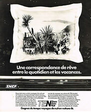 PUBLICITE ADVERTISING 015  1978  SNCF TEN  en voiture- lit 2