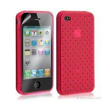 Housse étui coque souple tressée transparent pour Apple Iphone 4/4S couleur rose