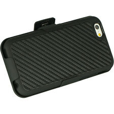 "iPHONE 6 / 6s 4.7"" Carbon Fiber PLATINUM SHEL-TEK KNIGHT Belt Clip Holster Case"