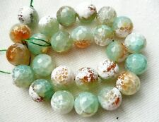 Ukcheapest - 10p grand rouge vert feu agate ronde facettes 14mm gemstone beads