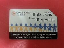 Italian Red Cross for Mine Victims. Collectable Used Italian Phone Card