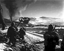 New 8x10 Korean War - Conflict Photo: U.S. Marines Advance with Air Support