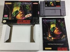 Flashback: The Quest for Identity (Super Nintendo SNES, 1993) CIB Complete