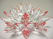 LOTUS CRYSTAL FLOWER CLEAR PETALS REFLECT PINK CENTER 2014 SWAROVSKI #5100663