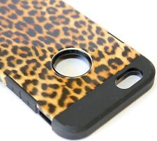 For iPhone 6 / 6S - HARD RUBBER GUMMY TPU SKIN CASE COVER BROWN LEOPARD CHEETAH