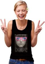 Tank Top - DOPE -Slogan Funshirt for Women  Voluptuous lady with pink sunglasses