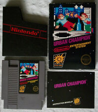 Nintendo NES URBAN CHAMPION Game Box Manual Complete Play Tested Five 5 Screws