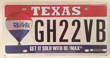 RE/MAX REMAX license plate Realtor Realty Real Estate Agency Agent