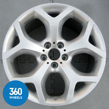 "1 x GENUINE BMW 20"" X6 214 11J Y SPOKE SILVER REAR ALLOY WHEEL 36116782916"