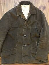 Vtg 60's Fingerhut Men Brown Wide Wale CORDUROY Jacket Cord CLASSIC CAR Coat 38