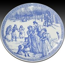 SPODE BLU ROOM Collection piatto di Natale no.5 Blue & White vittoriana scene