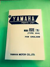 YAMAHA FS1E FIZZY FS1 FS1-E 1975 394 PARTS LIST