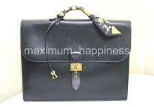 HERMES SAC A DEPECHE 38CM ARDENNES LEATHER BRIEFCASE / PORTFOLIO - AUTHENTIC