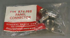 NOS General Radio 874-PB8 50-Ohm Panel Connector Coaxial GR874