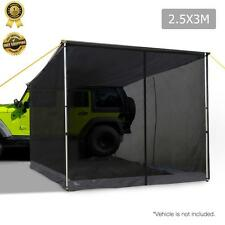 2.5X3M Car Side AWNING With Fly Mesh Net Mountable Tent Roof Top Camper 4WD 4x4