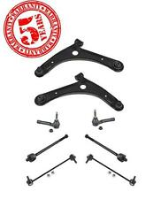 07-12 Caliber Com Patriot 07-15 Front Control Arms Sway Bars & Tie Rods 8pc Kit
