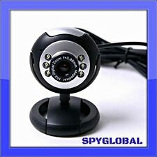 USB 6 LED Night Vision Webcam with Mic - Free 4 LED Webcam with Purchase