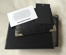 Alexander Wang Black Prisma Croc Black Leather Coin Purse Wallet Bag BNWT  £190